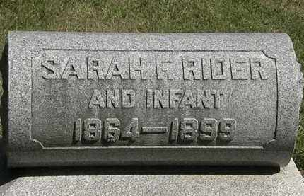 RIDER, INFANT - Marion County, Ohio | INFANT RIDER - Ohio Gravestone Photos