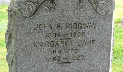 RIDGWAY, MARGARET JANE - Marion County, Ohio | MARGARET JANE RIDGWAY - Ohio Gravestone Photos