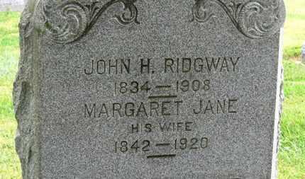 RIDGWAY, JOHN H. - Marion County, Ohio | JOHN H. RIDGWAY - Ohio Gravestone Photos