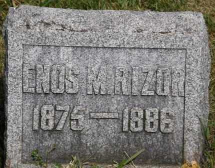 RIZOR, ENOS M. - Marion County, Ohio | ENOS M. RIZOR - Ohio Gravestone Photos