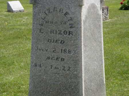 RIZOR, ELIZABETH - Marion County, Ohio | ELIZABETH RIZOR - Ohio Gravestone Photos