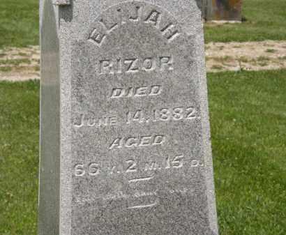 RIZOR, ELIJAH - Marion County, Ohio | ELIJAH RIZOR - Ohio Gravestone Photos
