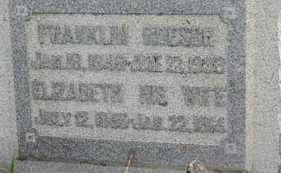 ROESCH, ELIZABETH - Marion County, Ohio | ELIZABETH ROESCH - Ohio Gravestone Photos