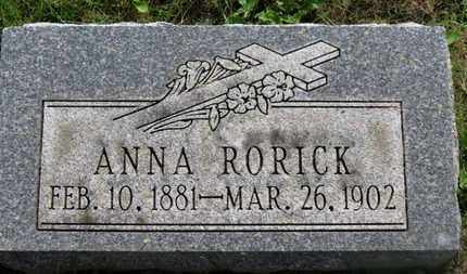 RORICK, ANNA - Marion County, Ohio | ANNA RORICK - Ohio Gravestone Photos