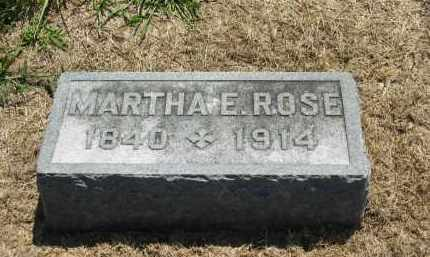 ROSE, MARTHA E. - Marion County, Ohio | MARTHA E. ROSE - Ohio Gravestone Photos