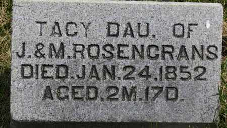 ROSENCRANS, TACY - Marion County, Ohio | TACY ROSENCRANS - Ohio Gravestone Photos
