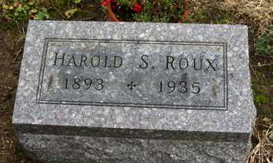 ROUX, HAROLD S. - Marion County, Ohio | HAROLD S. ROUX - Ohio Gravestone Photos