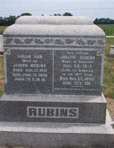 RUBINS, SARAH ANN - Marion County, Ohio | SARAH ANN RUBINS - Ohio Gravestone Photos