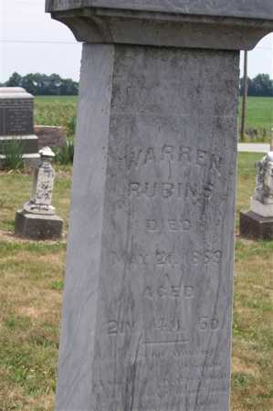 RUBINS, WARREN - Marion County, Ohio | WARREN RUBINS - Ohio Gravestone Photos