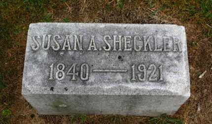 SHECKLER, SUSAN A. - Marion County, Ohio | SUSAN A. SHECKLER - Ohio Gravestone Photos