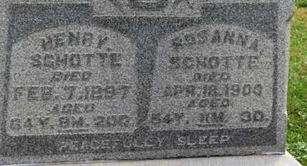 SCHOTTE, HENRY - Marion County, Ohio | HENRY SCHOTTE - Ohio Gravestone Photos