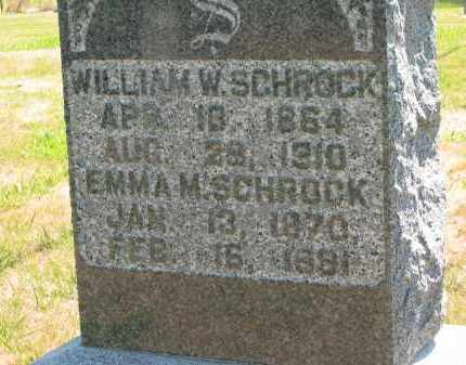 SCHROCK, WILLIAM W. - Marion County, Ohio | WILLIAM W. SCHROCK - Ohio Gravestone Photos
