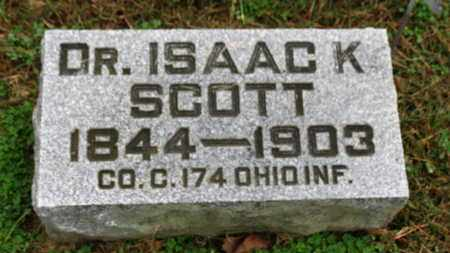 SCOTT, ISAAC K. - Marion County, Ohio | ISAAC K. SCOTT - Ohio Gravestone Photos