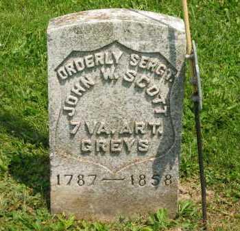 SCOTT, JOHN W. - Marion County, Ohio | JOHN W. SCOTT - Ohio Gravestone Photos