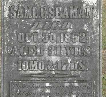 SEAMAN, SAML. C. - Marion County, Ohio | SAML. C. SEAMAN - Ohio Gravestone Photos