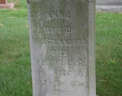 SELANDERS, ANNA - Marion County, Ohio | ANNA SELANDERS - Ohio Gravestone Photos