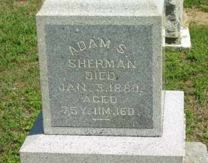 SHERMAN, ADAM S. - Marion County, Ohio | ADAM S. SHERMAN - Ohio Gravestone Photos