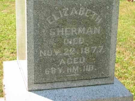 SHERMAN, ELIZABETH - Marion County, Ohio | ELIZABETH SHERMAN - Ohio Gravestone Photos