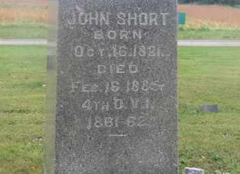 SHORT, JOHN - Marion County, Ohio | JOHN SHORT - Ohio Gravestone Photos