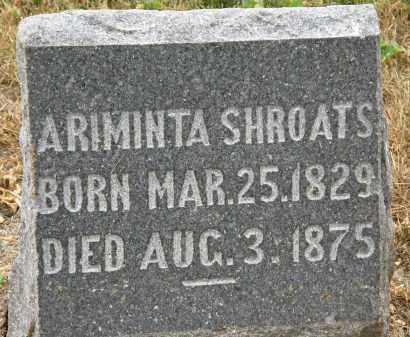 SHROATS, ARIMINTA - Marion County, Ohio | ARIMINTA SHROATS - Ohio Gravestone Photos