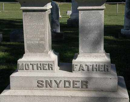 SNYDER, CHRISTIANA - Marion County, Ohio | CHRISTIANA SNYDER - Ohio Gravestone Photos