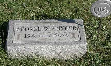 SNYDER, GEORGE W. - Marion County, Ohio | GEORGE W. SNYDER - Ohio Gravestone Photos