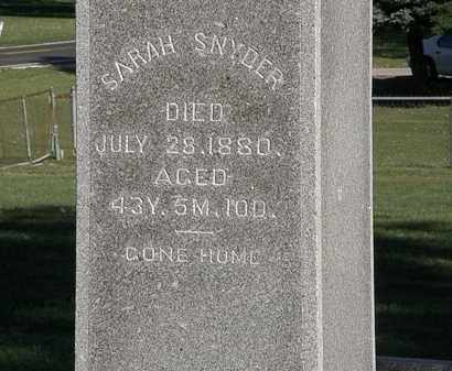 SNYDER, SARAH - Marion County, Ohio | SARAH SNYDER - Ohio Gravestone Photos