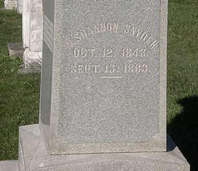 SNYDER, SHANNON - Marion County, Ohio | SHANNON SNYDER - Ohio Gravestone Photos