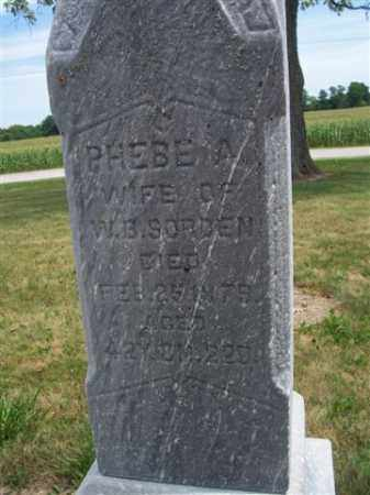 SORDEN, PHEBE A. - Marion County, Ohio | PHEBE A. SORDEN - Ohio Gravestone Photos