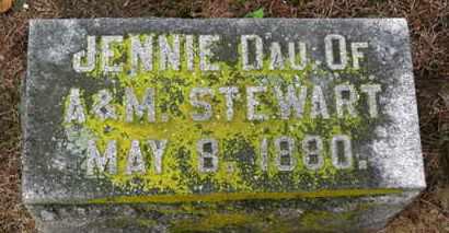 STEWART, JENNIE - Marion County, Ohio   JENNIE STEWART - Ohio Gravestone Photos