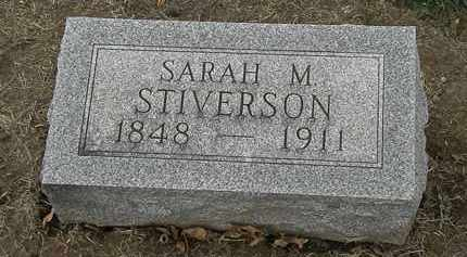 STIVERSON, SARAH M. - Marion County, Ohio | SARAH M. STIVERSON - Ohio Gravestone Photos