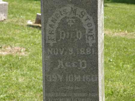 STONE, FRANCIS M. - Marion County, Ohio | FRANCIS M. STONE - Ohio Gravestone Photos