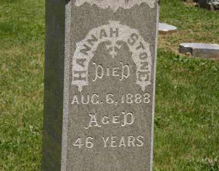 STONE, HANNAH - Marion County, Ohio | HANNAH STONE - Ohio Gravestone Photos