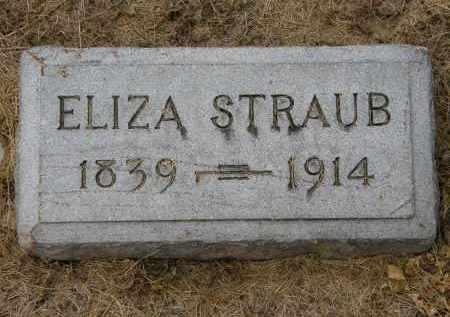 STRAUB, ELIZA - Marion County, Ohio | ELIZA STRAUB - Ohio Gravestone Photos