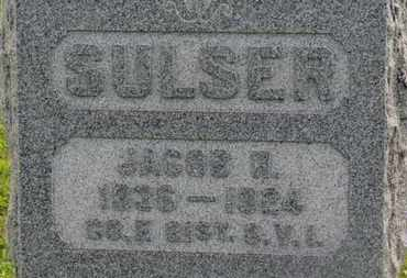 SULSER, JACOB R. - Marion County, Ohio | JACOB R. SULSER - Ohio Gravestone Photos