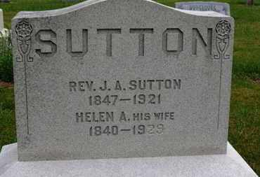 SUTTON, J.A. - Marion County, Ohio | J.A. SUTTON - Ohio Gravestone Photos