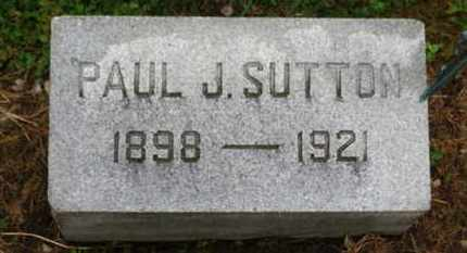 SUTTON, PAUL J. - Marion County, Ohio | PAUL J. SUTTON - Ohio Gravestone Photos