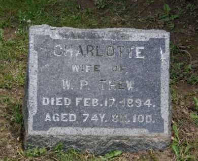 THEW, CHARLOTTE - Marion County, Ohio | CHARLOTTE THEW - Ohio Gravestone Photos