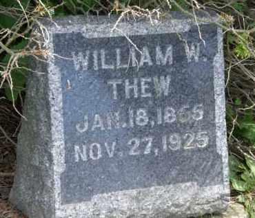 THEW, WILLIAM W. - Marion County, Ohio | WILLIAM W. THEW - Ohio Gravestone Photos