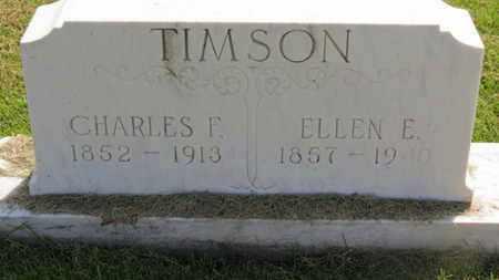 TIMSON, CHARLES F. - Marion County, Ohio | CHARLES F. TIMSON - Ohio Gravestone Photos