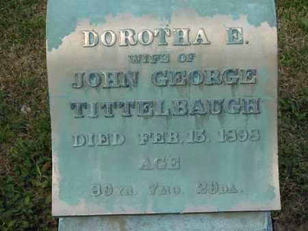 TITTLEBAUGH, DOROTHA E. - Marion County, Ohio | DOROTHA E. TITTLEBAUGH - Ohio Gravestone Photos