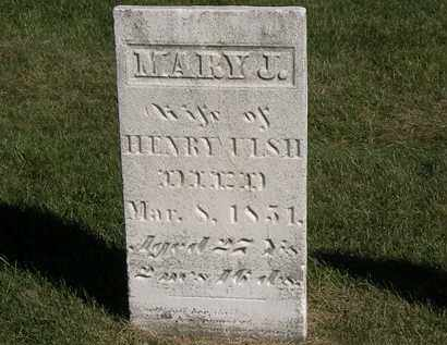 ULSH, MARY J - Marion County, Ohio | MARY J ULSH - Ohio Gravestone Photos