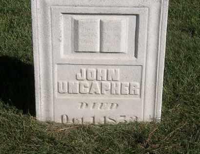 UNCAPHER, JOHN - Marion County, Ohio | JOHN UNCAPHER - Ohio Gravestone Photos