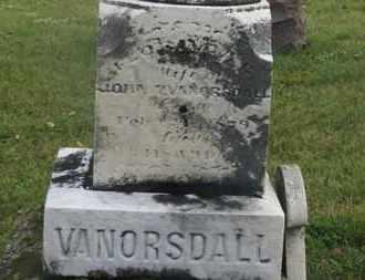 VANORSDALL, FLORINDA C. - Marion County, Ohio | FLORINDA C. VANORSDALL - Ohio Gravestone Photos