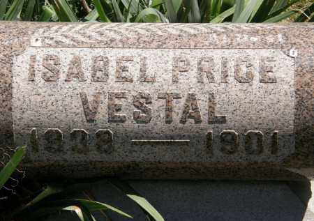 VESTAL, ISABEL PRICE - Marion County, Ohio   ISABEL PRICE VESTAL - Ohio Gravestone Photos
