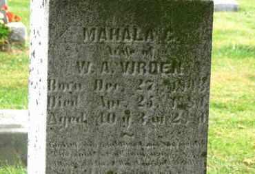 VIRDEN, MAHALA G. - Marion County, Ohio | MAHALA G. VIRDEN - Ohio Gravestone Photos