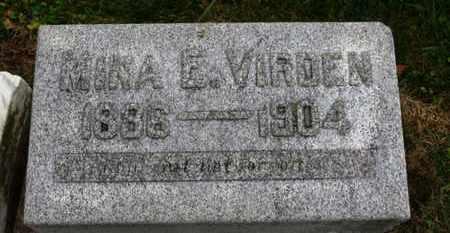 VIRDEN, NINA E. - Marion County, Ohio | NINA E. VIRDEN - Ohio Gravestone Photos