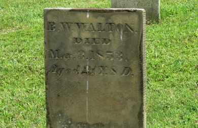 WALTON, B.W. - Marion County, Ohio | B.W. WALTON - Ohio Gravestone Photos
