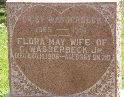 WASSERBECK, FLORA MAY - Marion County, Ohio | FLORA MAY WASSERBECK - Ohio Gravestone Photos