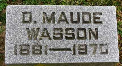 WASSON, D. MAUDE - Marion County, Ohio | D. MAUDE WASSON - Ohio Gravestone Photos